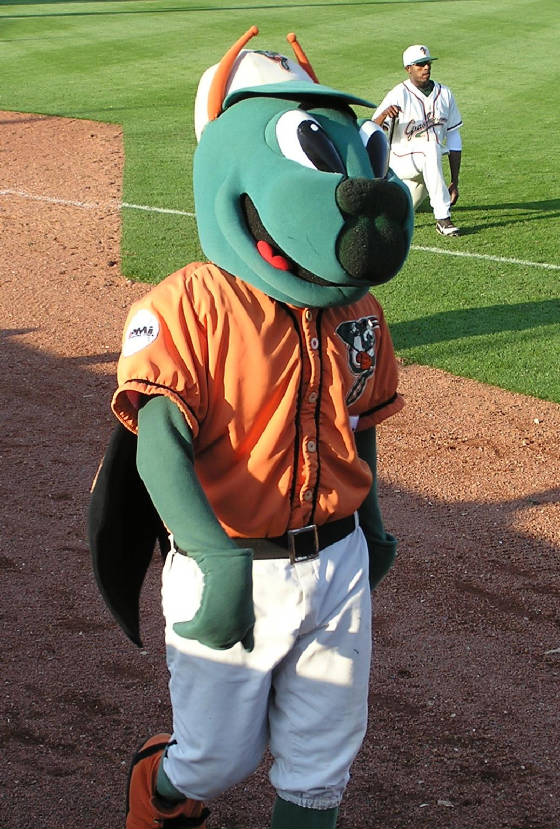 Guilford, The Grasshoppers Mascot - Greensboro