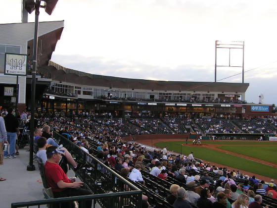 Looking in from Right Field - Greensboro