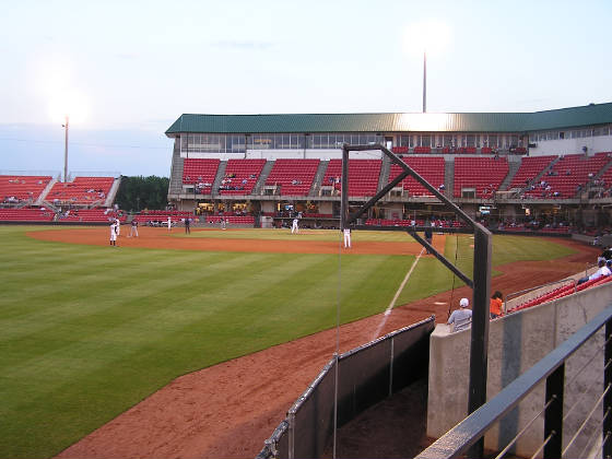 Five County stadium - From Left Field