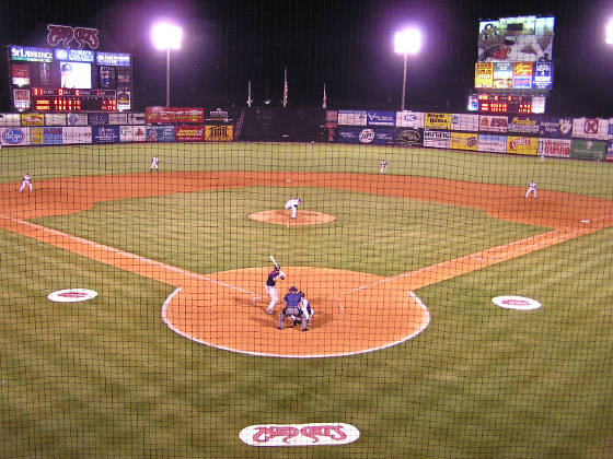 Five County Stadium - From behind Home Plate